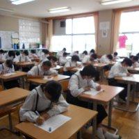 漢字力テストが行われました。